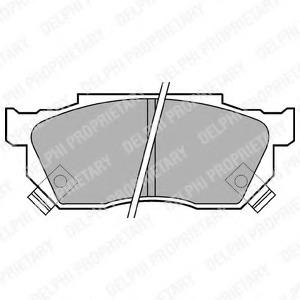 автозапчасти Комплект тормозных колодок, дисковый тормоз DELPHI LP445 купить